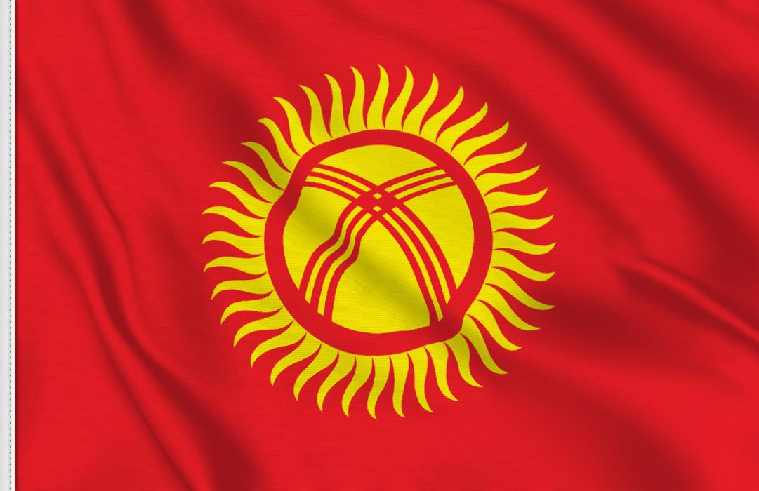 Kirgisistan aufkleber fahne