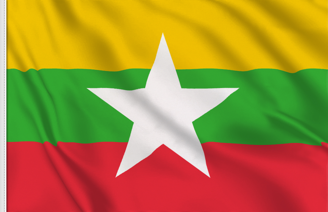 Burma 1974-2010 table flag