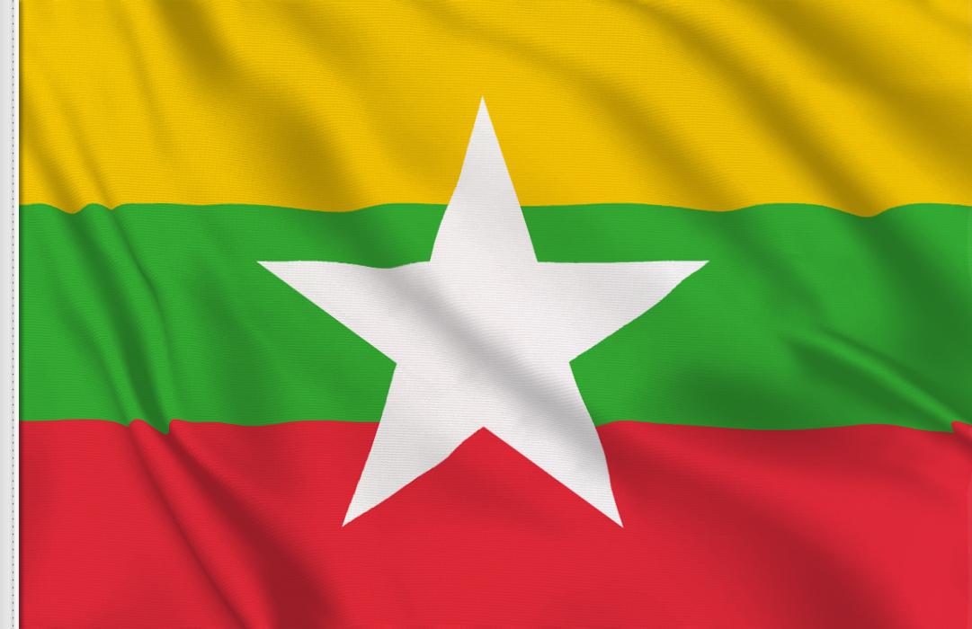 Tischfahnen von  Myanmar 1974 - 2010
