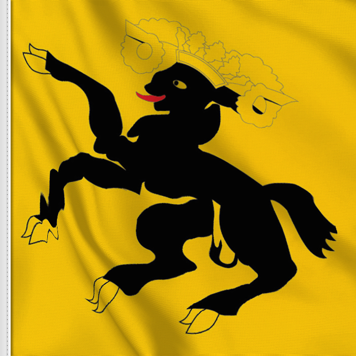 Flag sticker of Schaffhausen