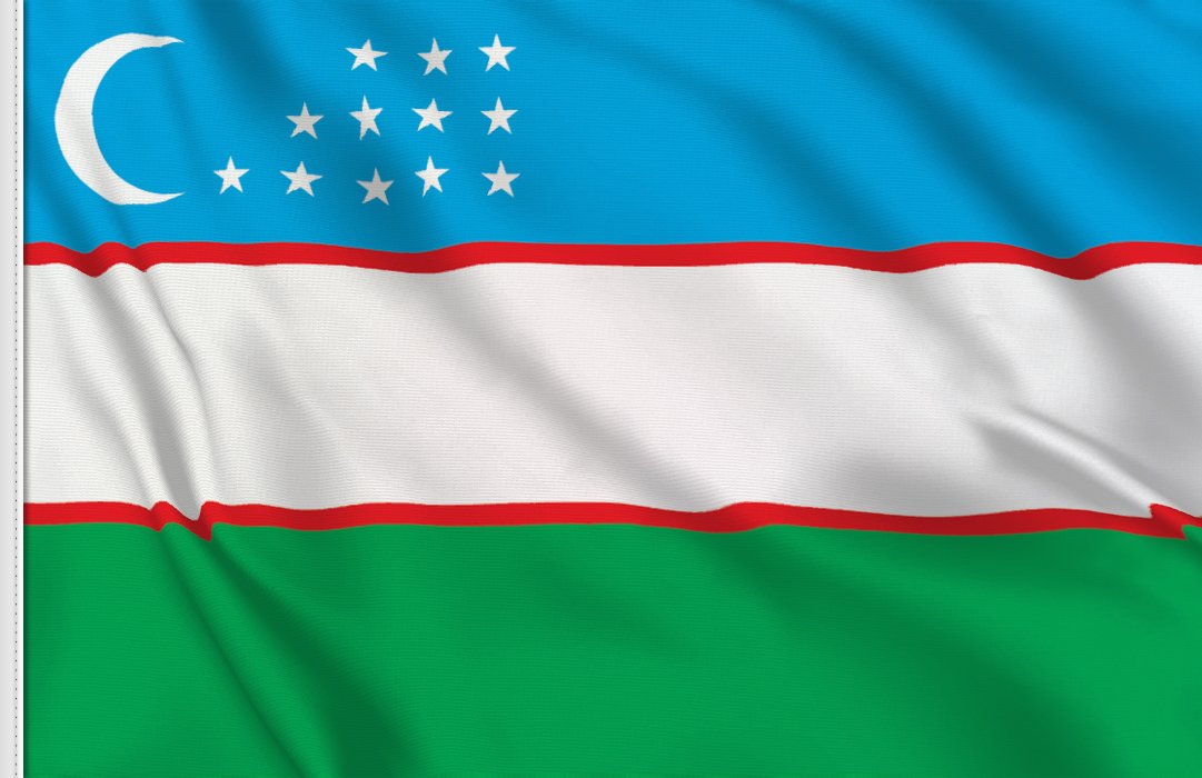 Flag sticker of Uzbekistan