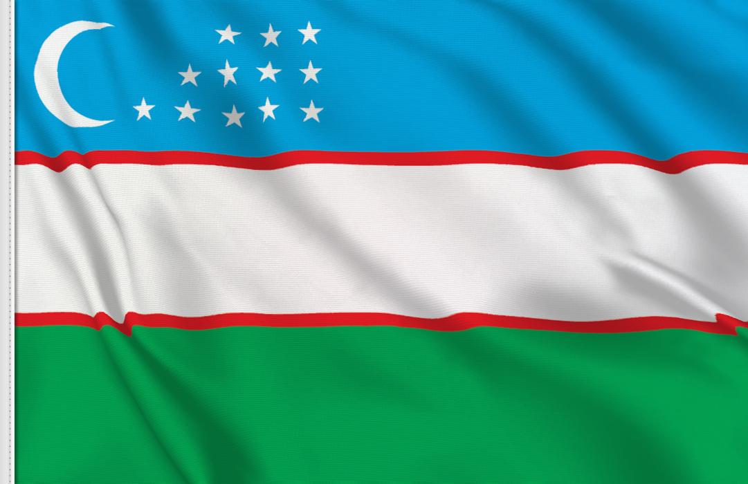 Uzbekistan table flag