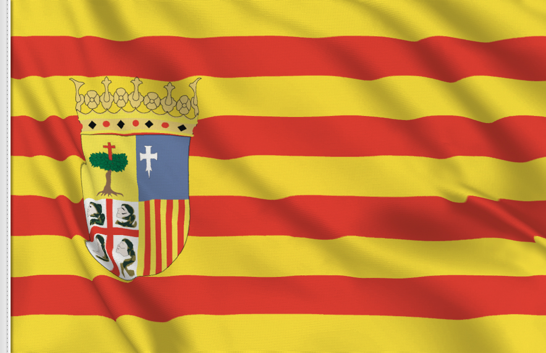 Flag sticker of Aragon