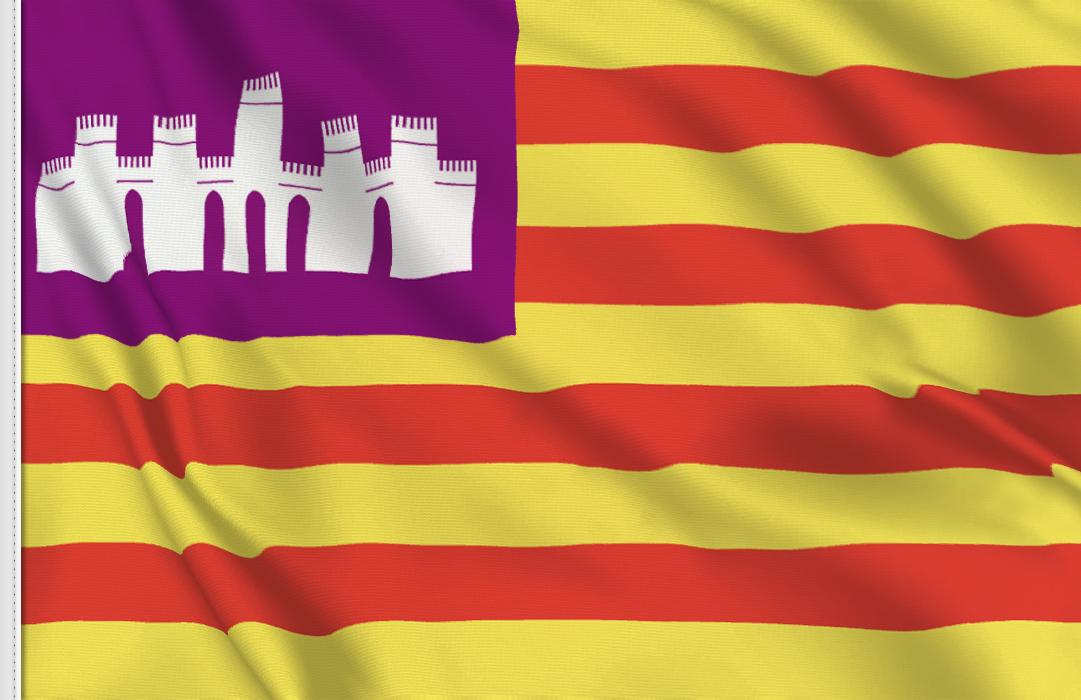 Balearische Inseln Aufkleber, Autoaufkleber Flaggen der Balearischen Inseln