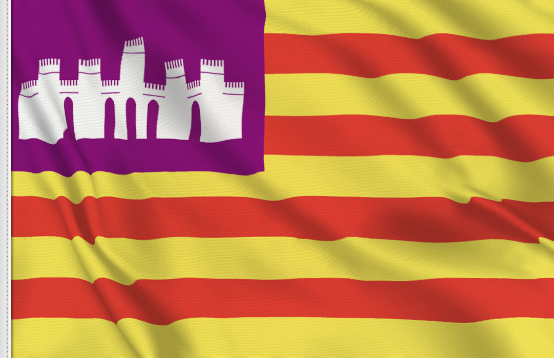 Flag sticker of Balearics