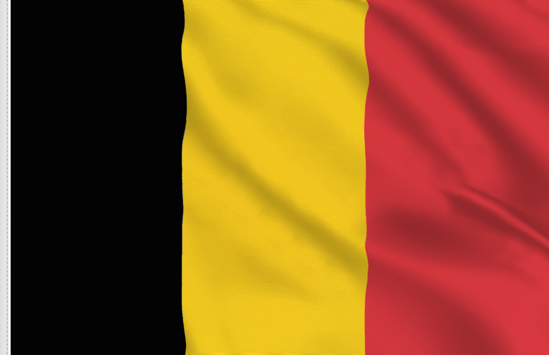 flag sticker of Belgium