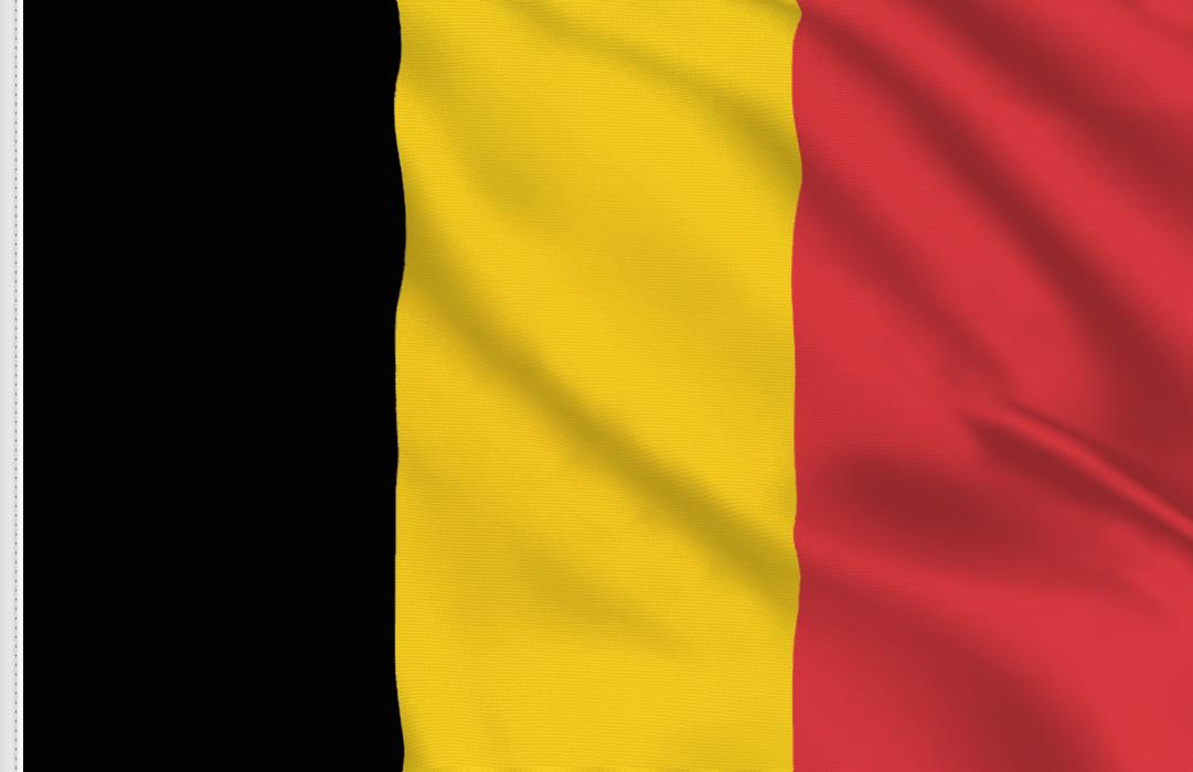 Flag sticker of Belgium