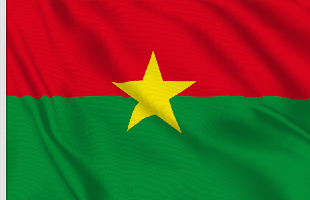 Burkina Faso table flag