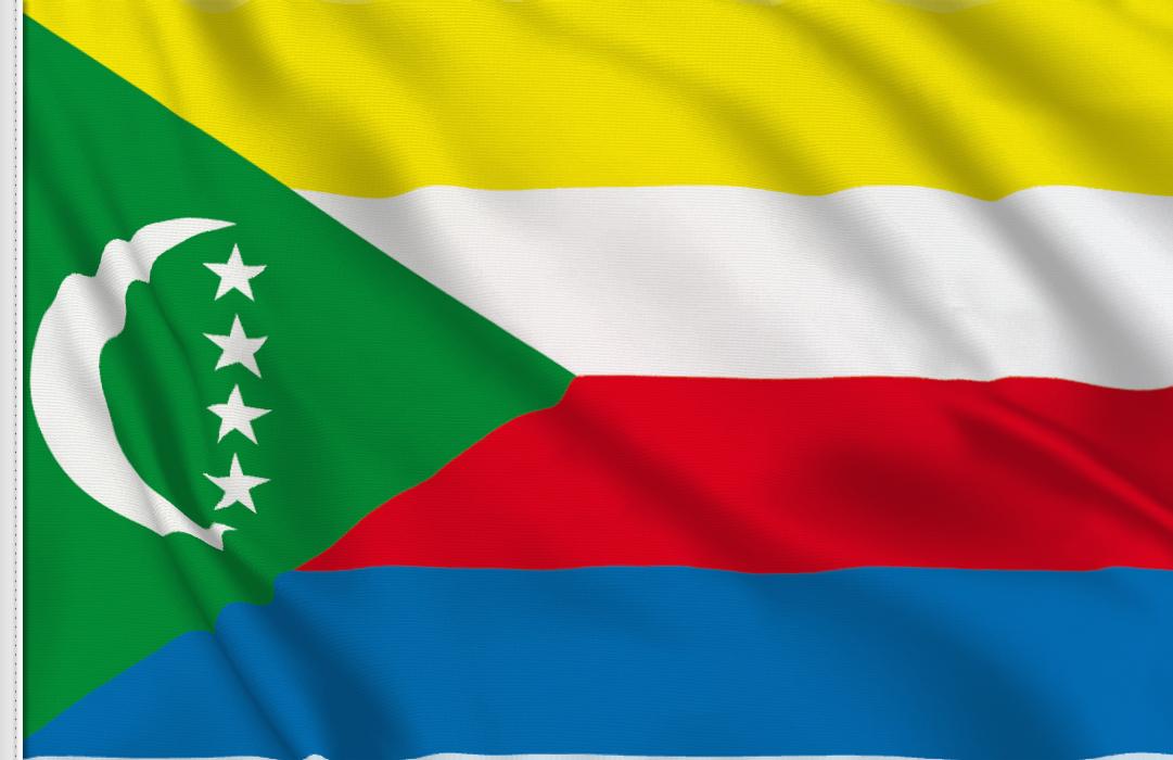 flag sticker of Comoros