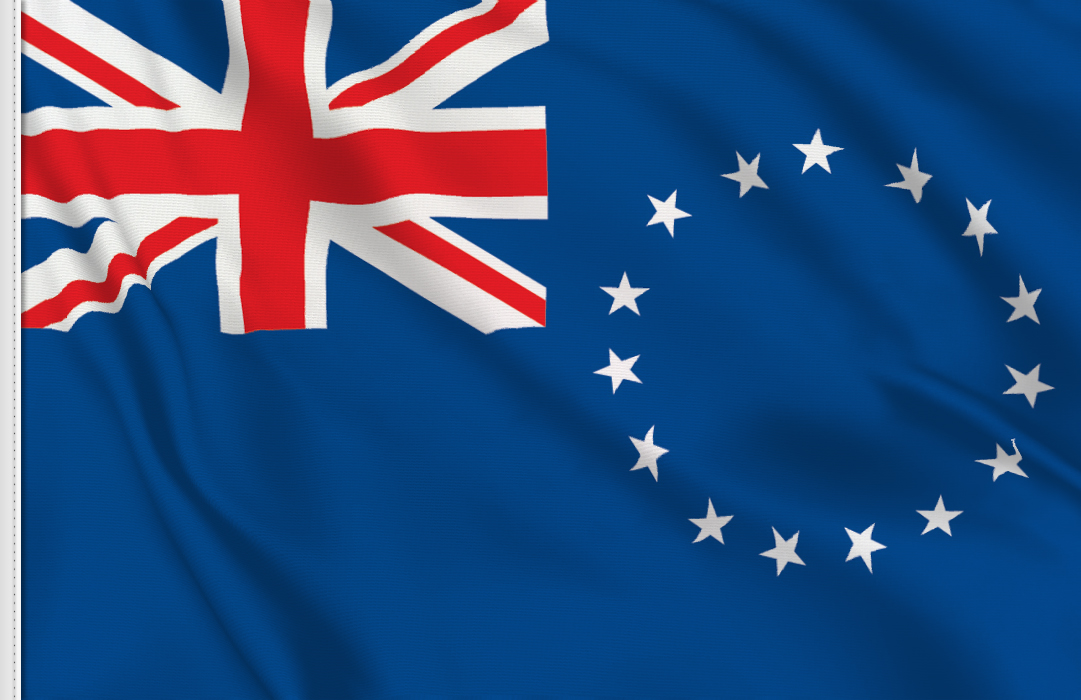 flag sticker of Cook Island
