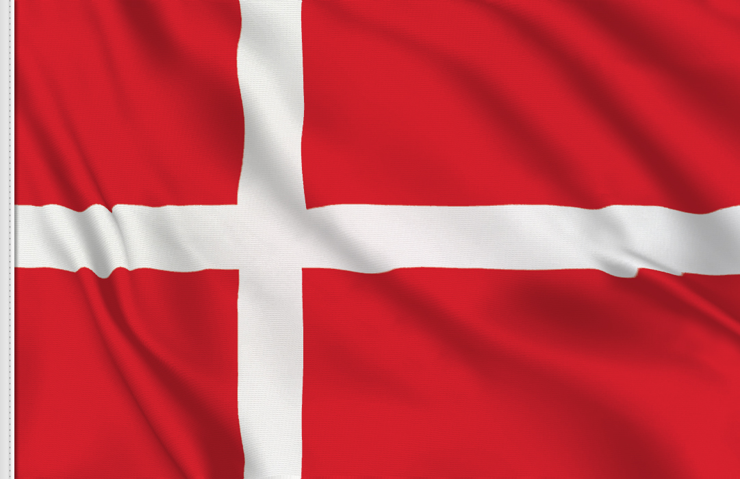 flag sticker of Denmark