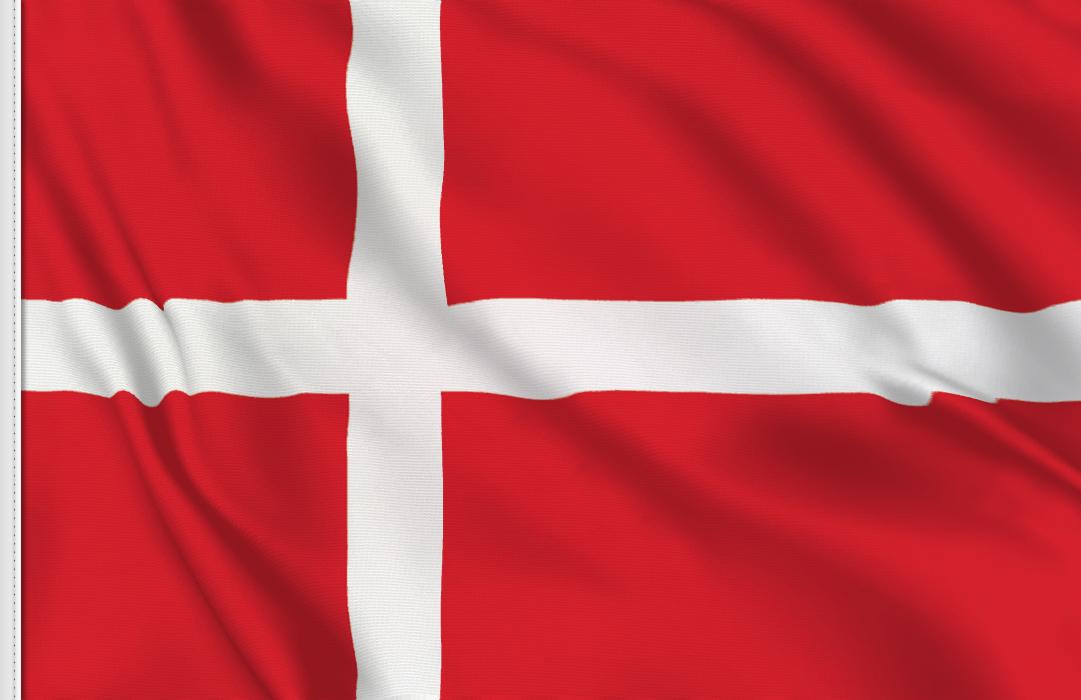 Flag sticker of Denmark