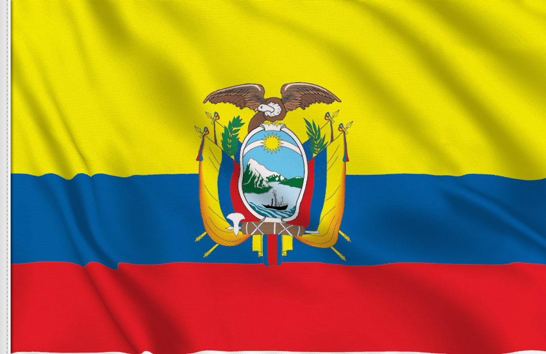 flag sticker of Ecuador