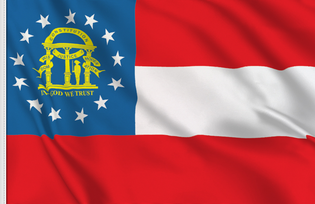 fahne Georgia Staats, flagge von Georgia
