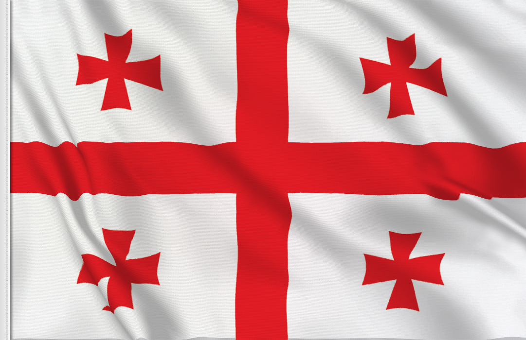 flag sticker of Georgia