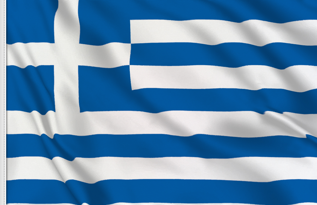 Greece table flag