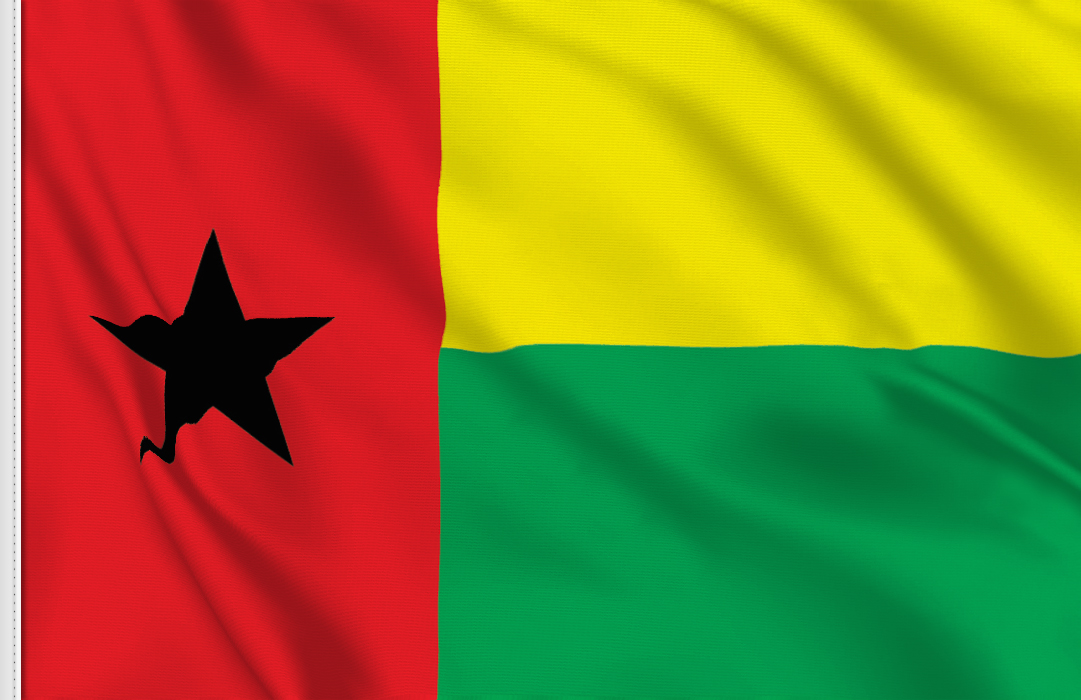 flag sticker of Guinea Bissau