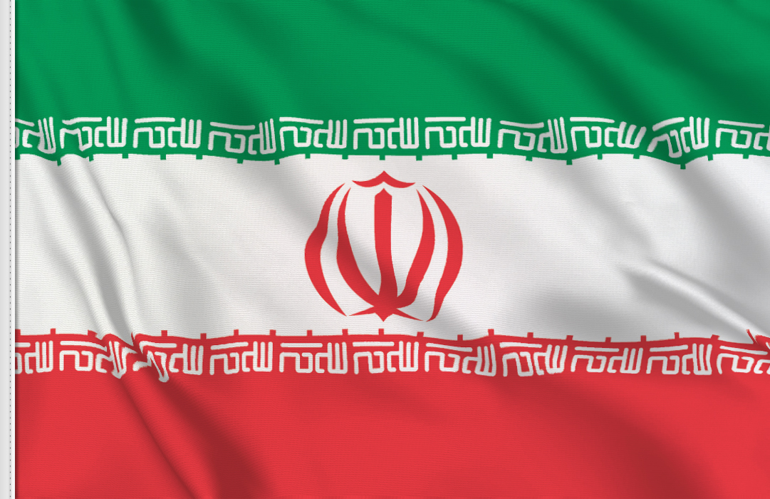 Flag sticker of Iran