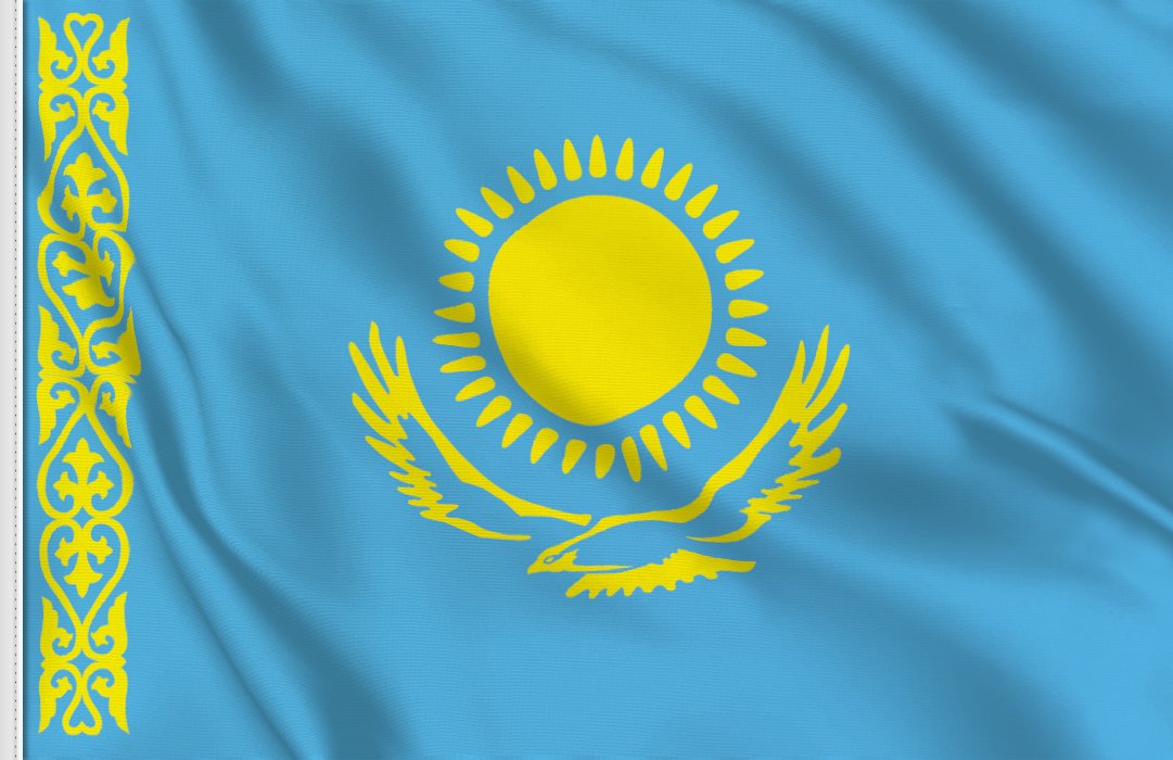 Flag sticker of Kazakhstan