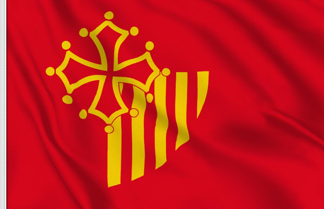 Languedoc-Roussillon aufkleber fahne