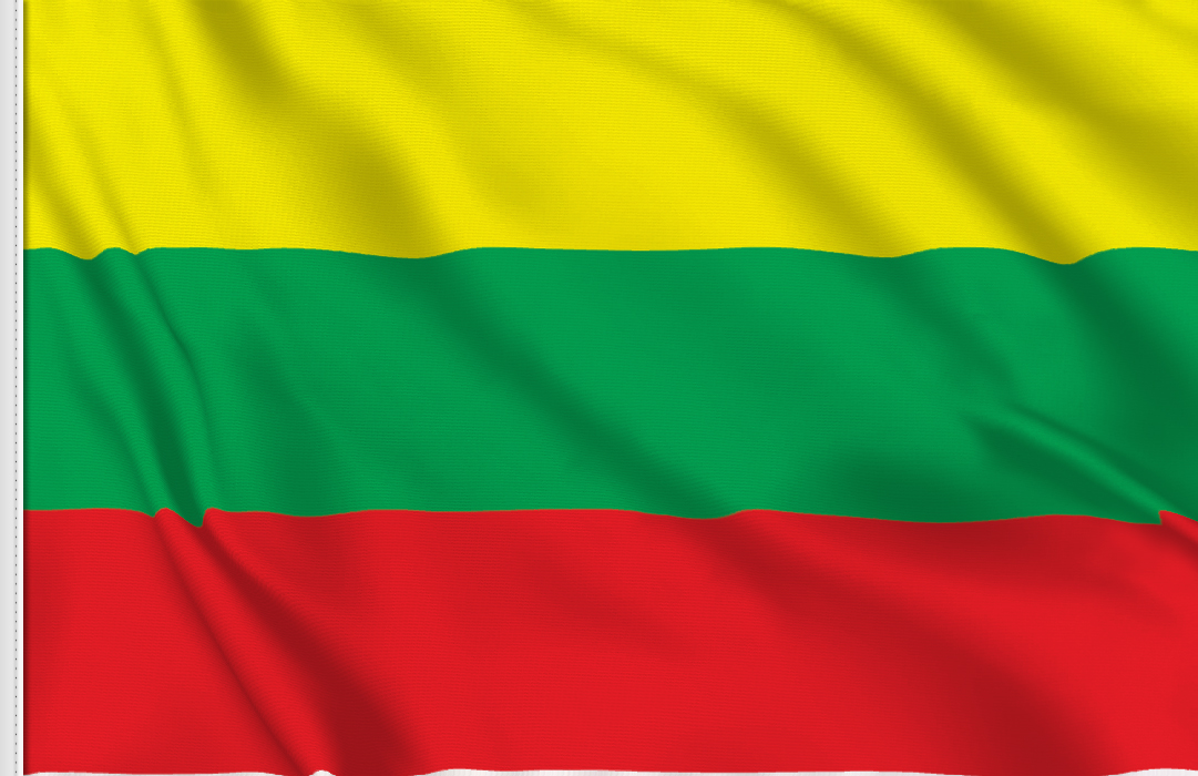 flag sticker of Lithuania