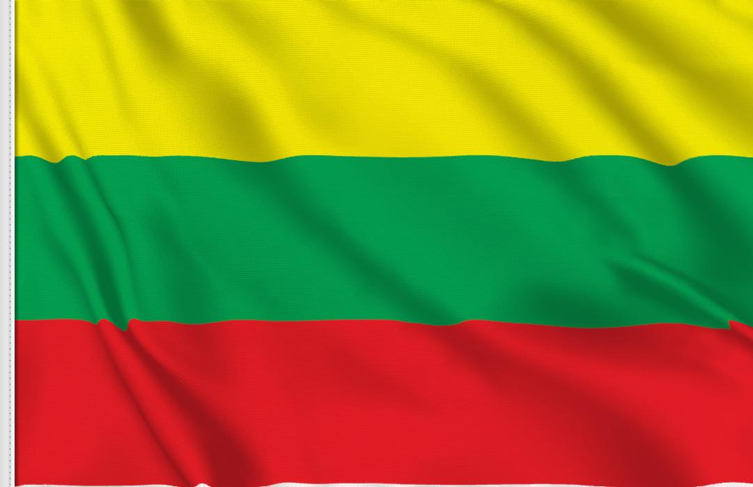 Bandiera Adesiva Lituania