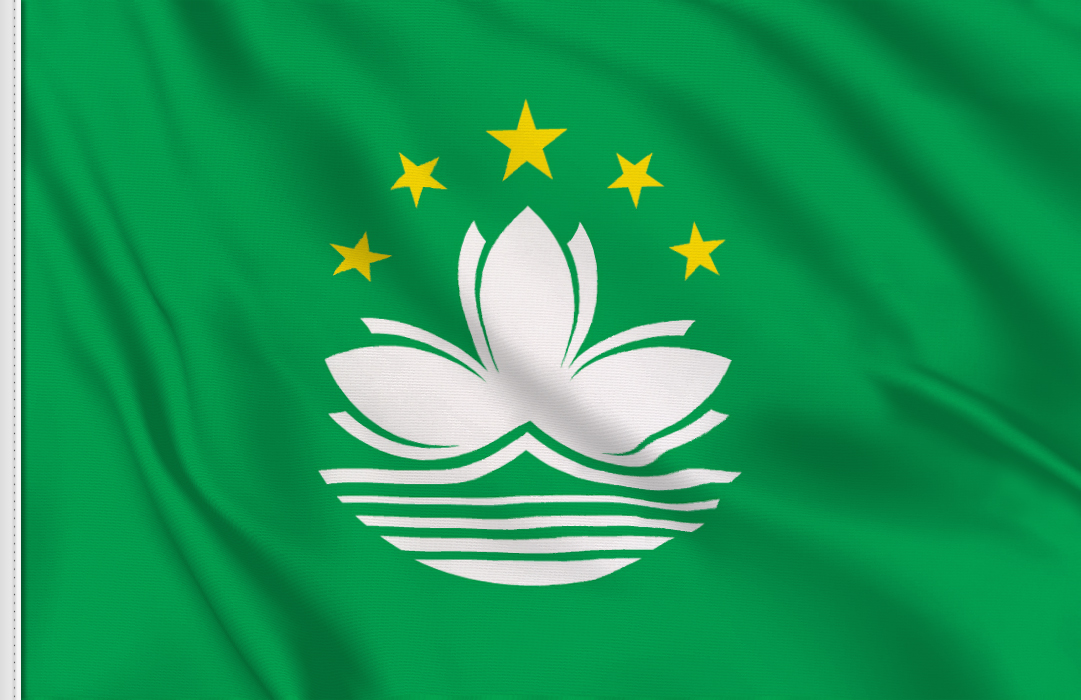Flag sticker of Macau