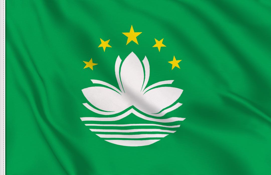 Macao aufkleber fahne