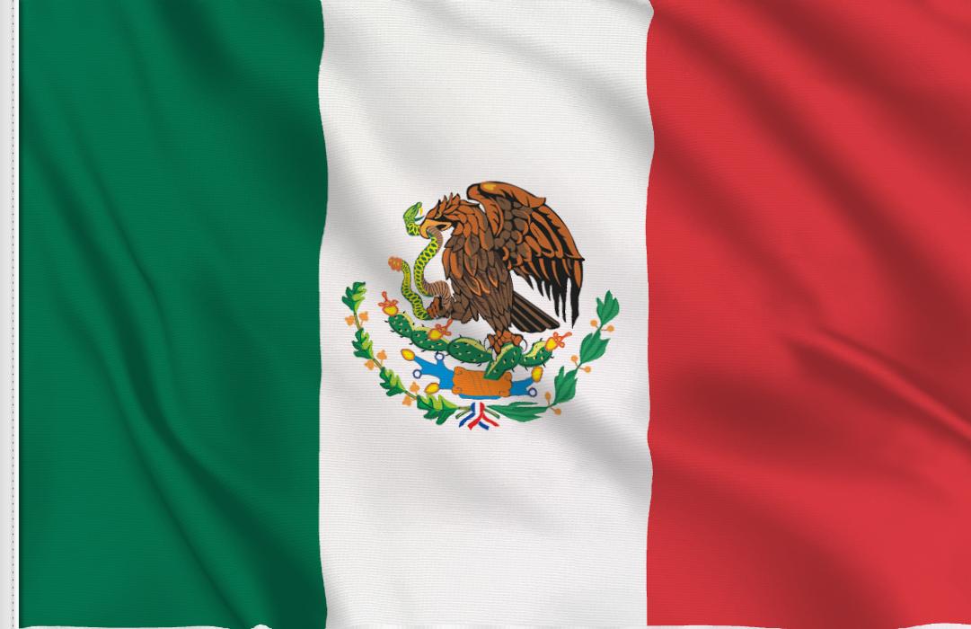 bandera adhesiva de Mexico