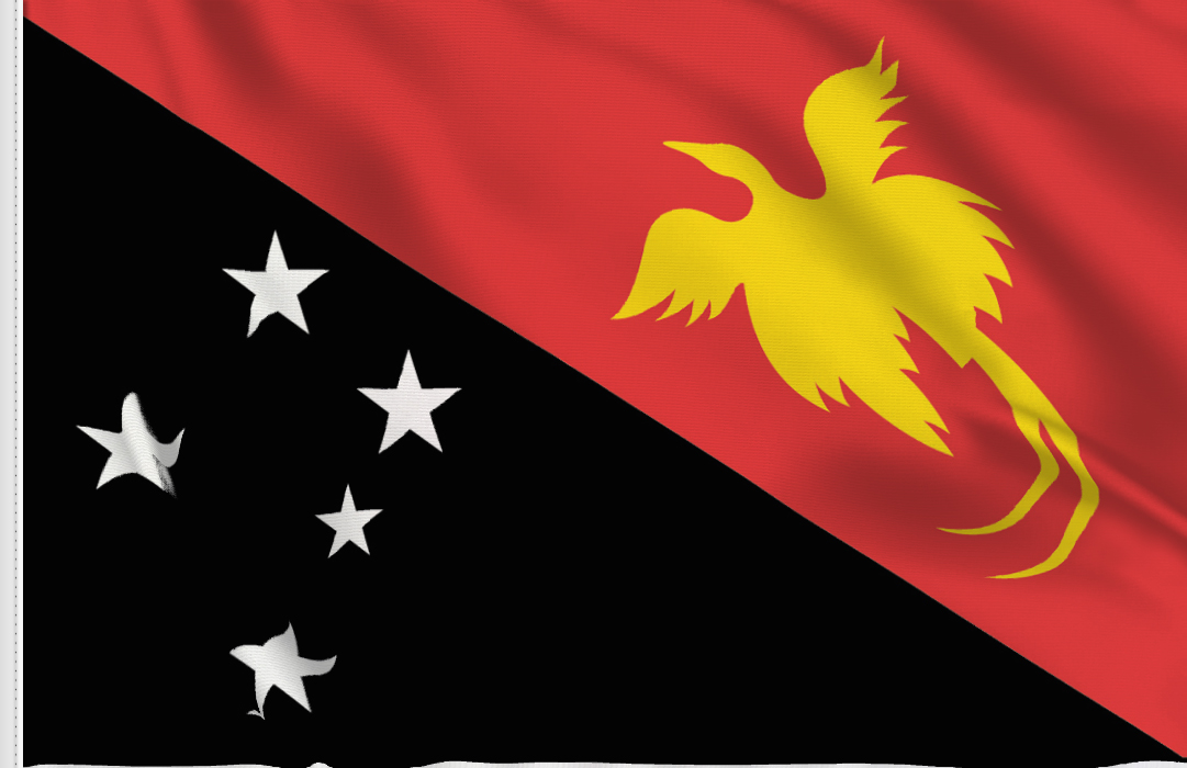 flag sticker of New Guinea