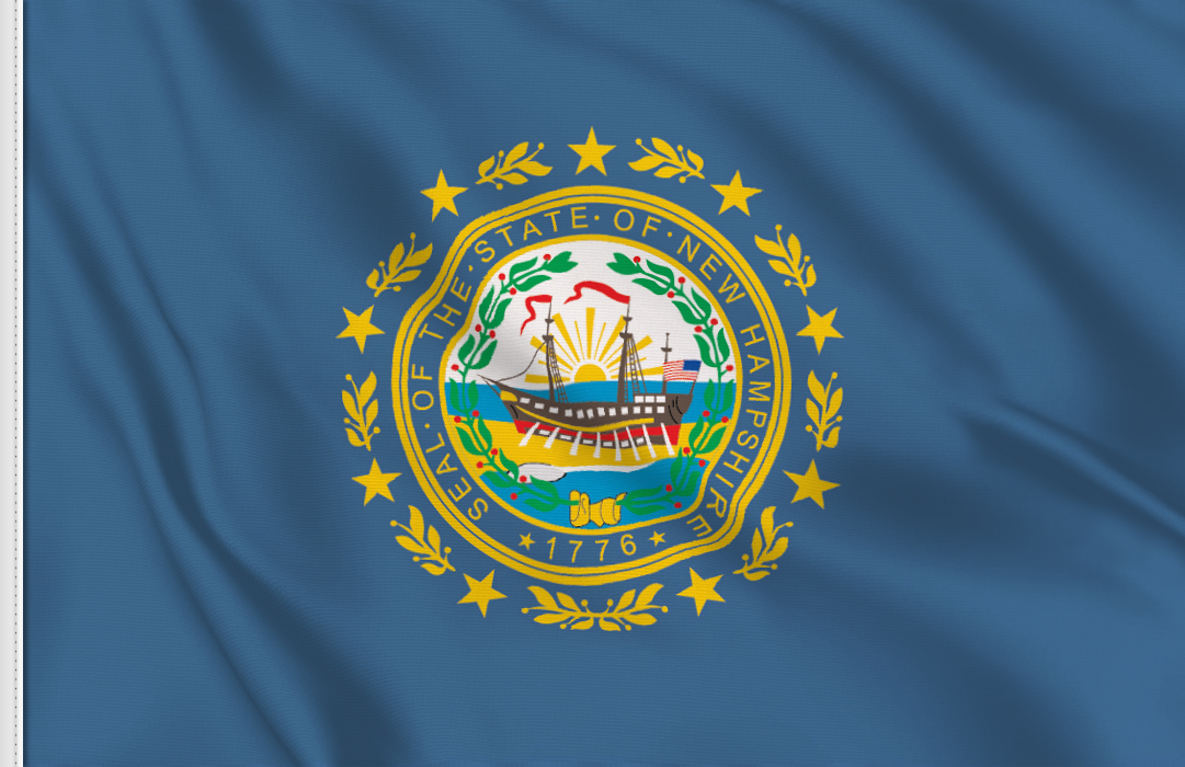 Flag sticker of New-Hampshire