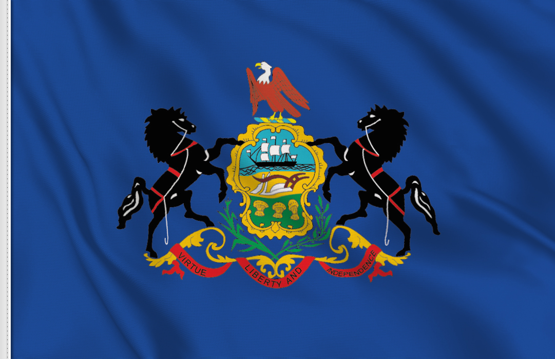 Flag sticker of Pennsylvania