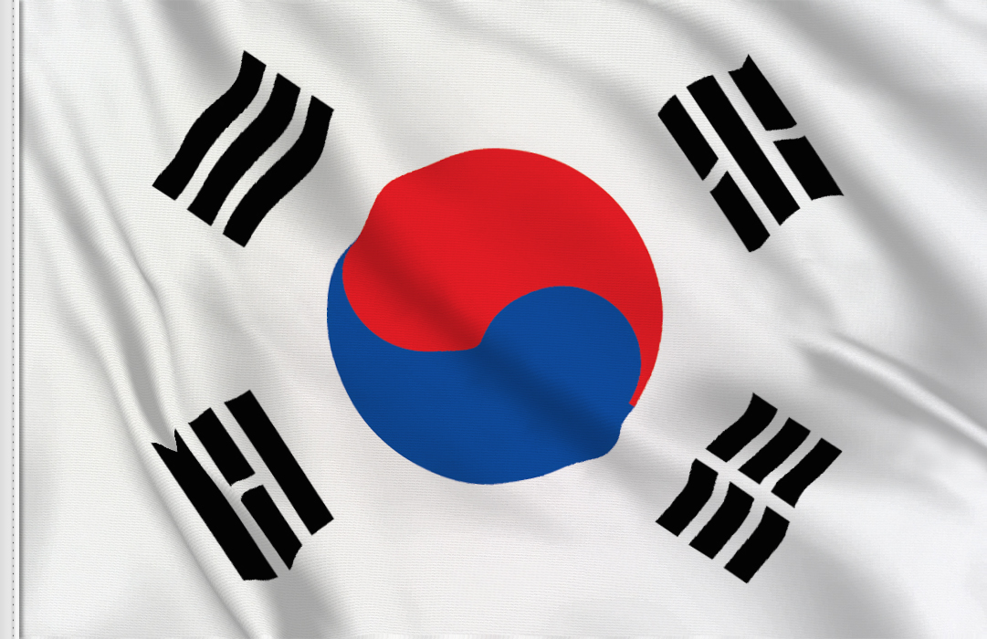 Flag sticker of South Korea