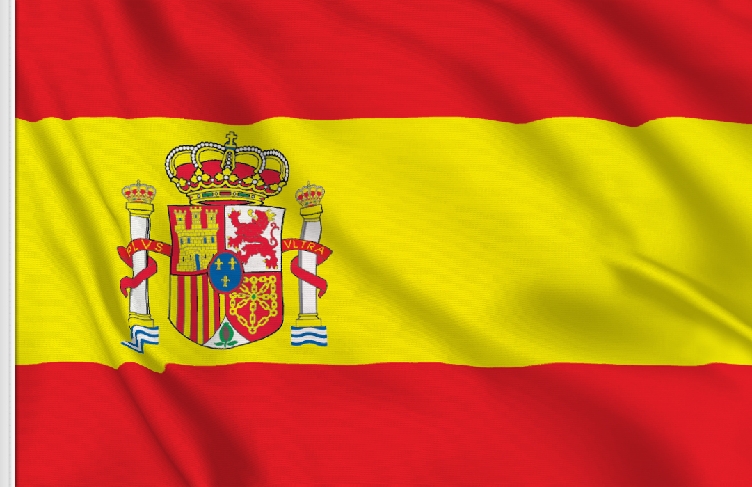 flag sticker of Spain
