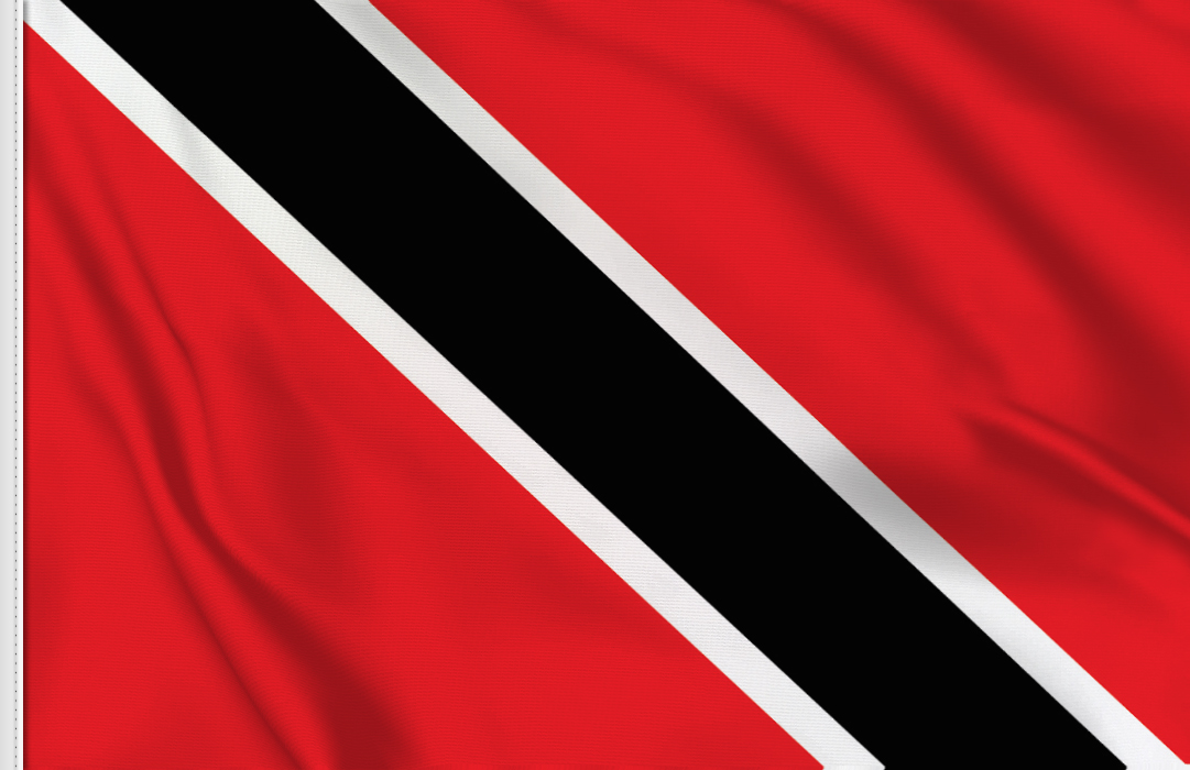 flag sticker of Trinidad Tobago