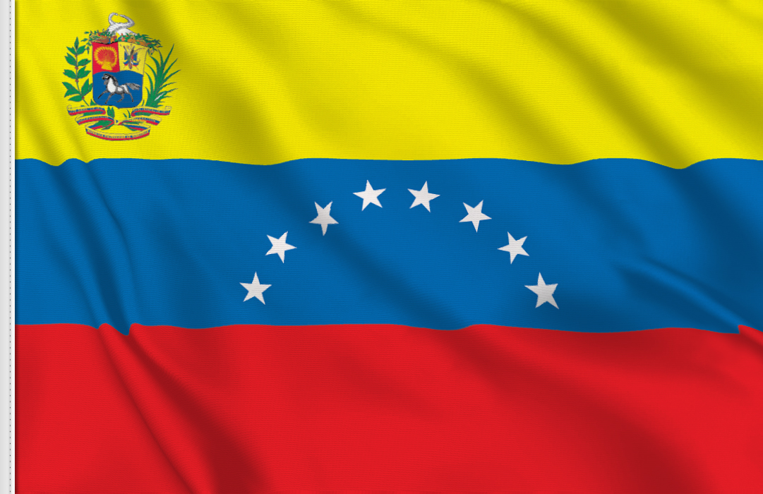drapeau adhésif du Venezuela