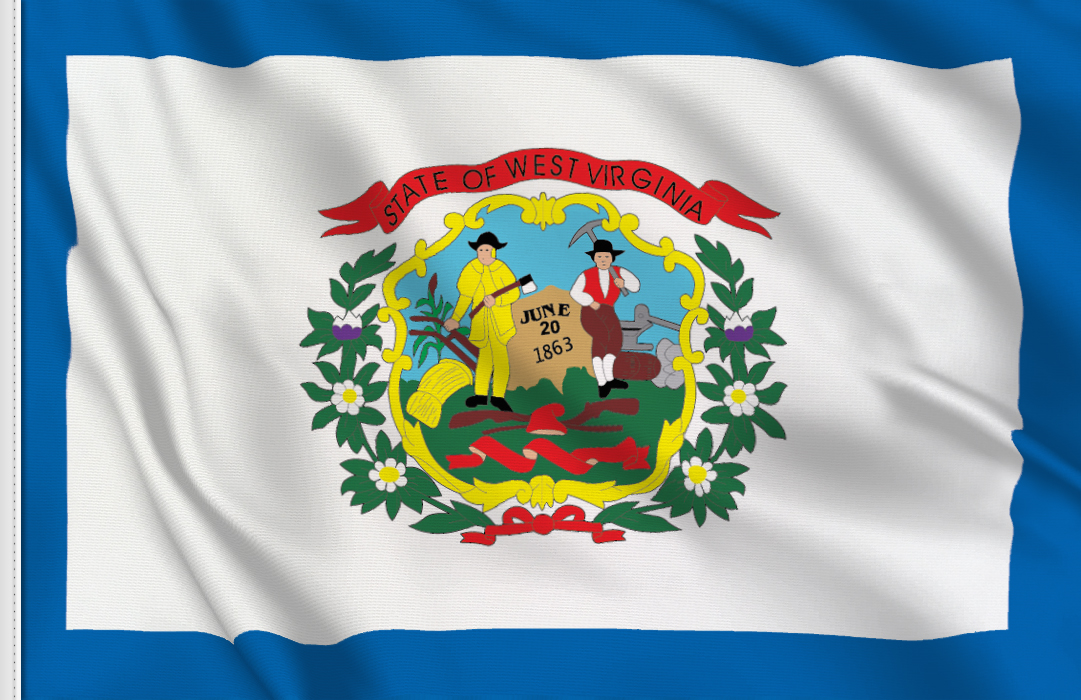Flag sticker of West-Virginia