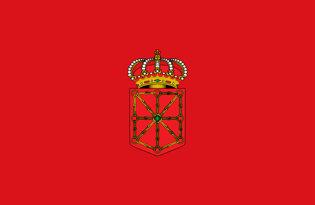 Adhesive flag Navarre