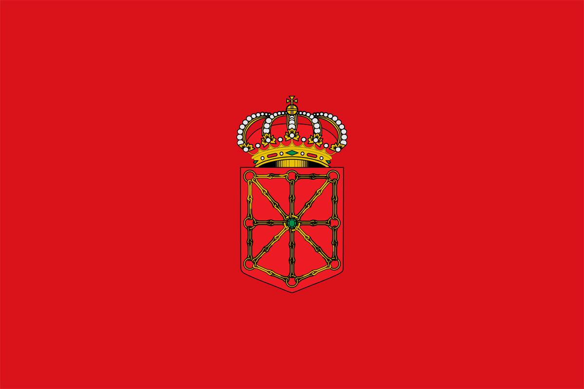 bandera pegatina de Navarra