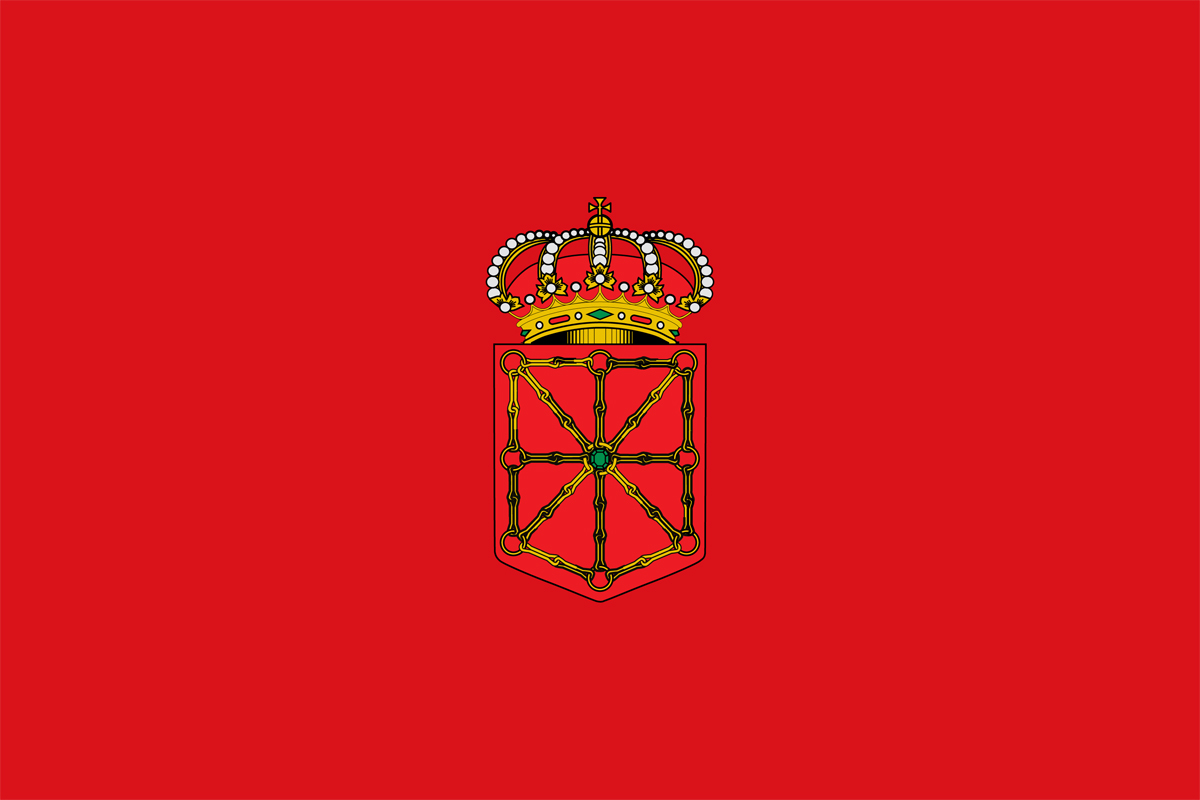 Flag sticker of Navarra