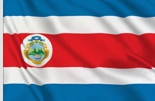 Costa Rica Table Flag
