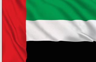 United Arab Emirates Table Flag