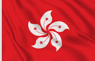Hong Kong Table Flag