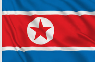 North Korea Table Flag