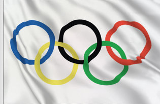Olympic Table Flag
