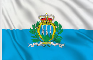 San Marino State Table Flag