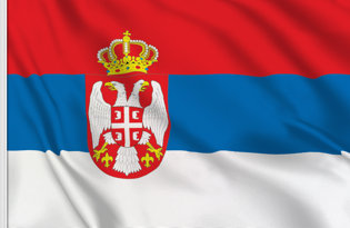 Serbia State Table Flag