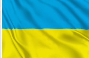 Ukraine Table Flag