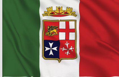 Italy Marina Militare Table Flag