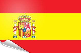 Adhesive flag Spain